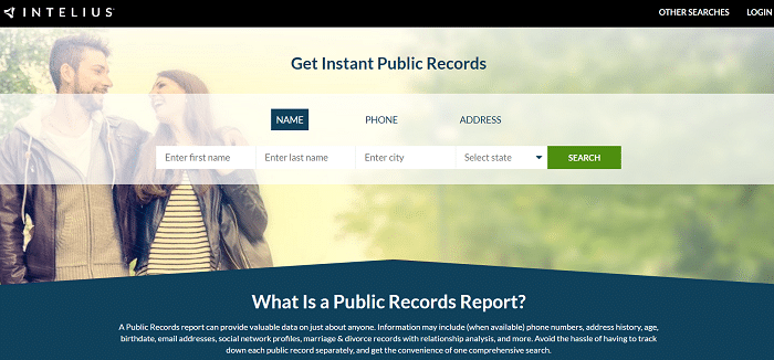 Intelius Public Record Report