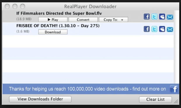 RealPlayer SP for Mac