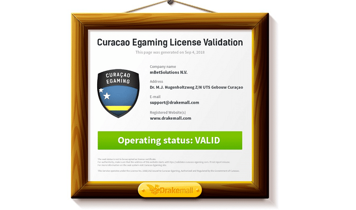 Curacao E-Gaming License