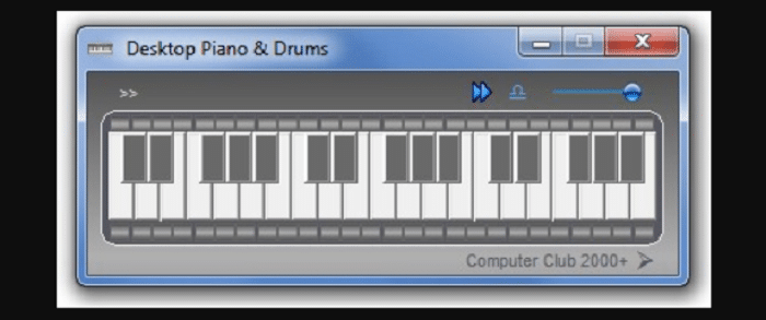 Desktop Piano and drums