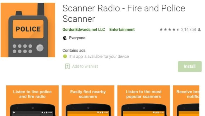 Fire and Police Scanner