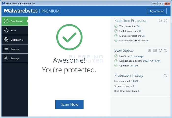 Install and run Malwarebytes on your computer