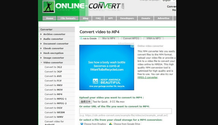 online-convert Vimeo to MP4