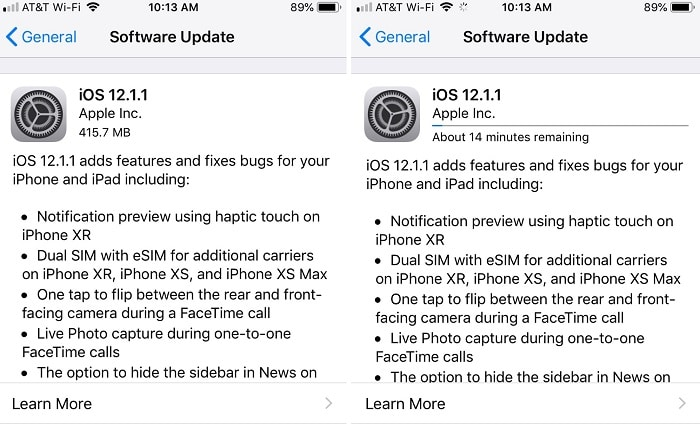 Download updates iphone