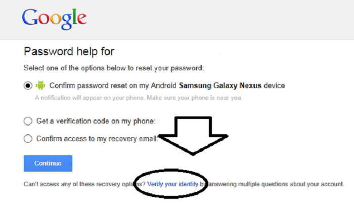 restore Gmail password without recovery phone number