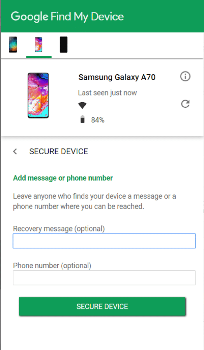 Find My Device - Secure Device