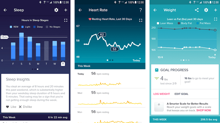 Fitbit Health Apps