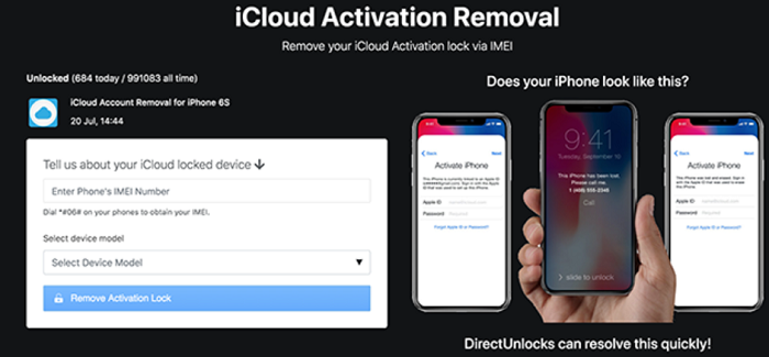 directunlocks icloud activation lock removal tool