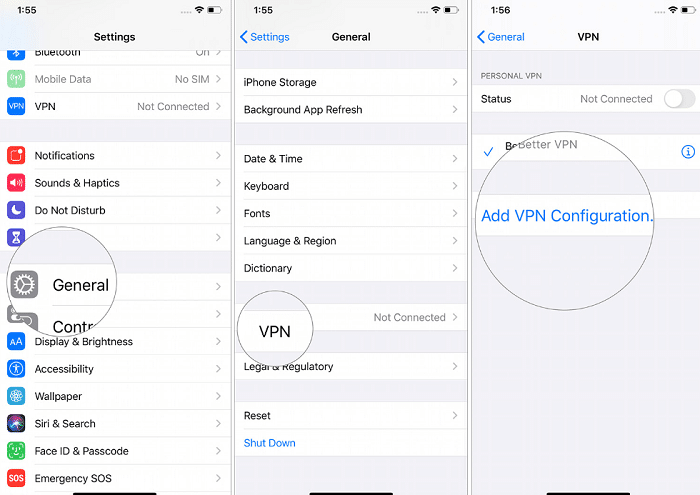 How to use VPN in mobile using iPhone
