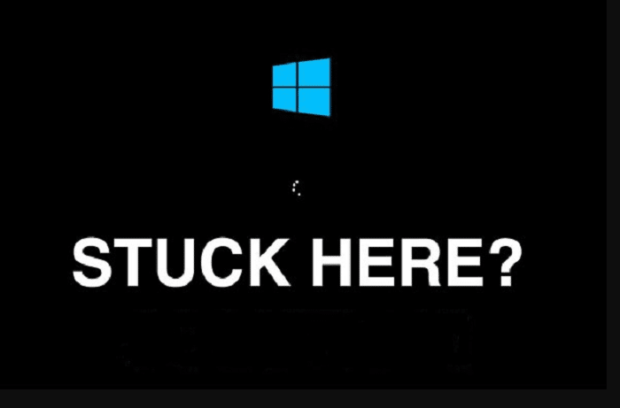 windows stuck