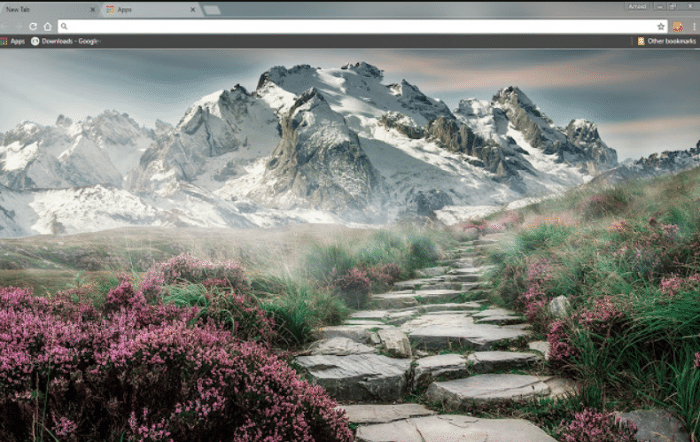 mountain landscape chrome