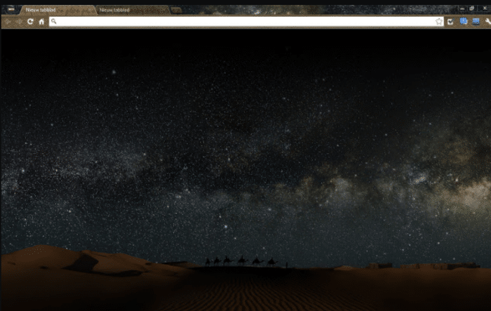 sahara chrome theme