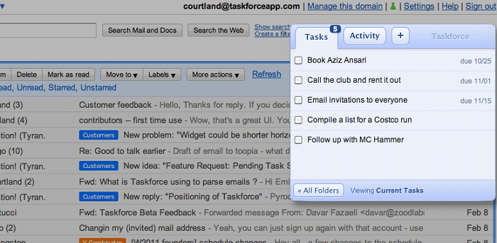taskforce email client for chromebook