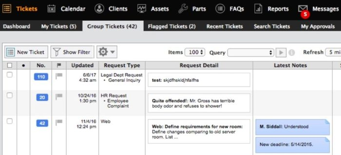automated ticket management