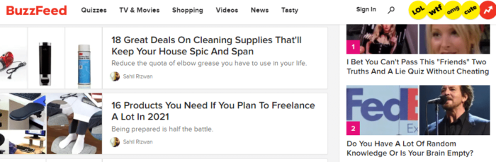 buzzfeed posts have clickbait-like headings