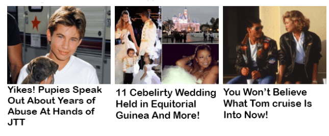 common examples of clickbaits