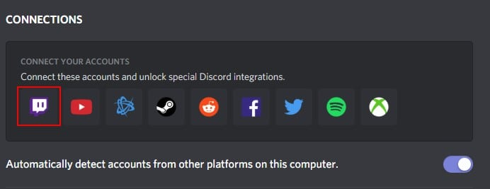 connect Discord and Twitch