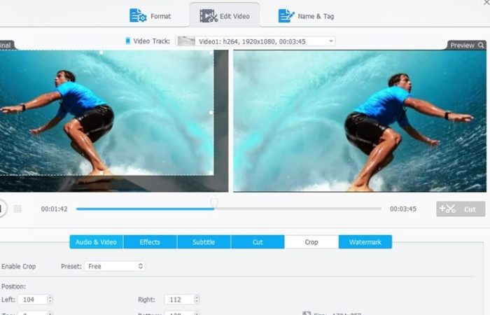 editting features on VideoProc