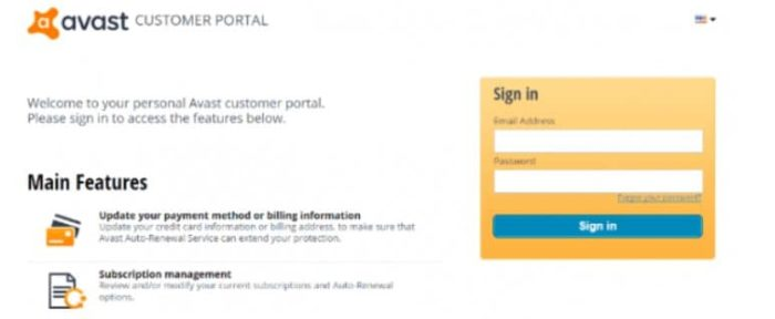 sign in to your Avast VPN account