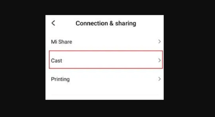 connection and sharing