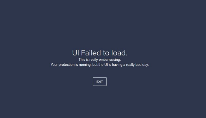 ui failed to load error