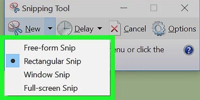 snipping tool shapes