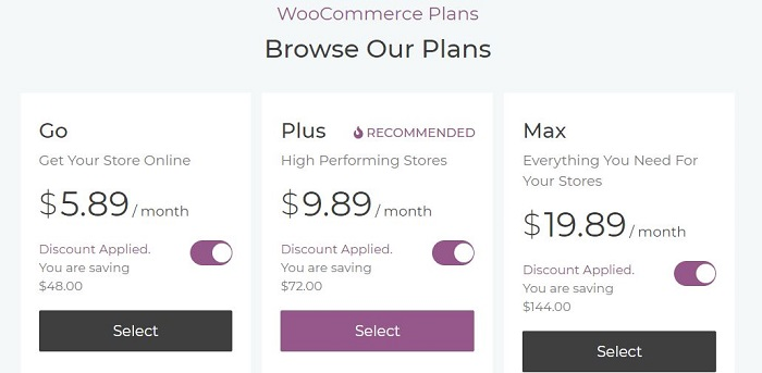 skystra woocommerce pricing plans