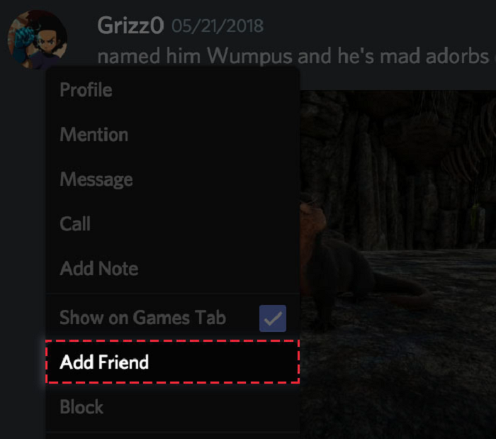 step5- add him to your friend's list