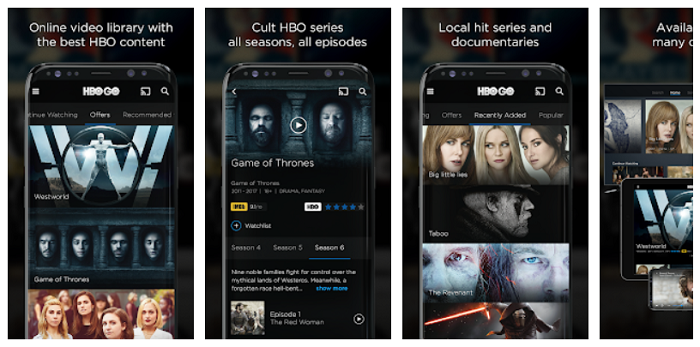 Download HBO Go on the mobile phone