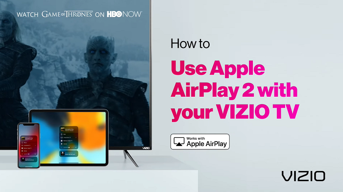 Use Airplay 2 Application to get HBO Go on Vizio Smart TV