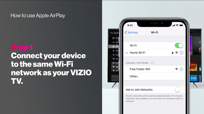 Connecting Device with Vizio TV