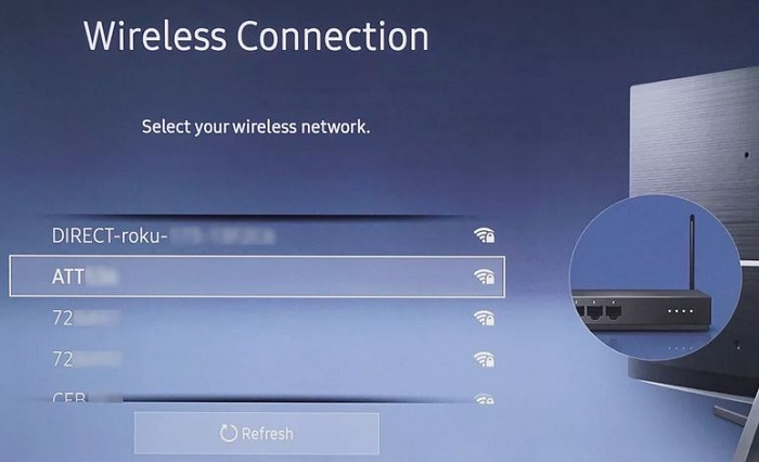 connect the tv with wifi