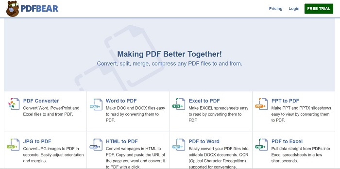 PDFBear Online Tools