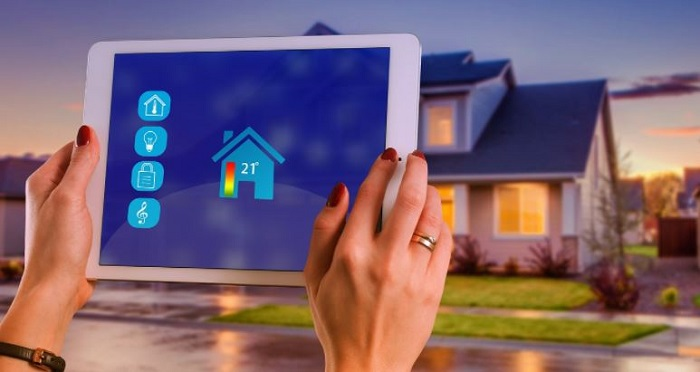 setting up smart home thermostat